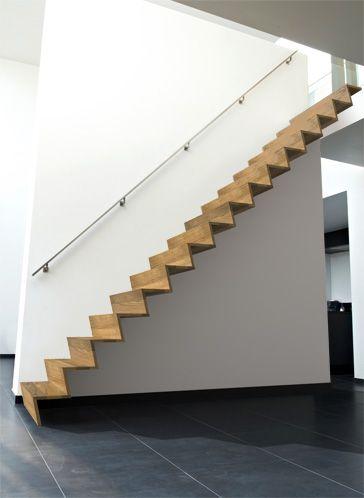 Moderne z trap decotrap architectuur pinterest - Moderne trapmodel ...