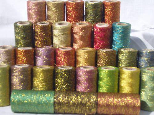 30 Metallico Rocchetti Di Filo,30 diversi colore, 274,3 m OGNUNO | eBay