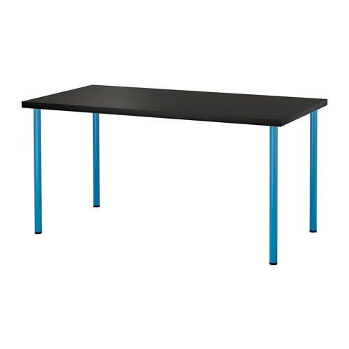 LINNMON / ADILS Stół IKEA Nawiercone otwory na nogi ułatwiają montaż. Regulowana wysokość nóg zapewnia stabilność na nierównej podłodze.