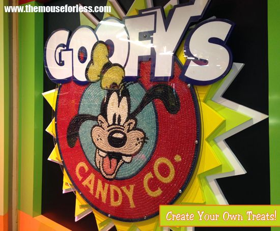 Create your own treats at Goofy's Candy Company located in Downtown Disney at Walt Disney World Resort.