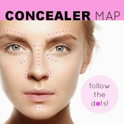 QC Makeup Academy's concealer map!