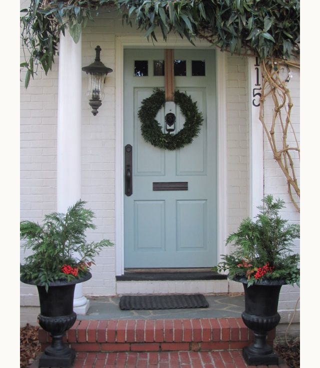 Stratton Blue By Benjamin Moore. Oh I Love This Front Door Painted Same  Blue As