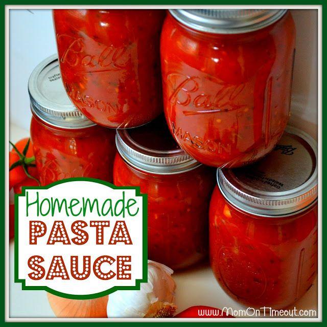 Homemade Pasta Sauce Recipe | via @Trish - Mom On Timeout