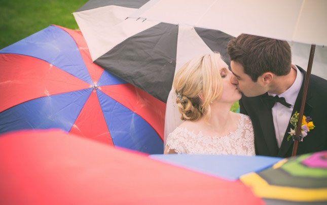 10 Tips for Surviving a Rainy Day Wedding via Brit + Co.