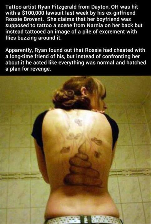 Classic – Is the way to avenge a wife's infidelity? #Tattoo #FAIL