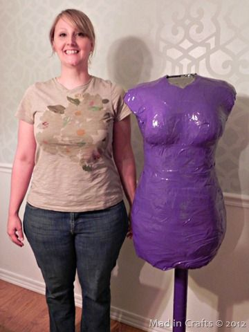 Duct tape dress makers dummy plus size
