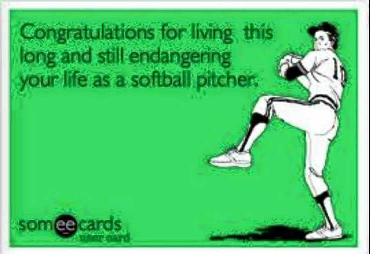 Slow pitch softball pitcher