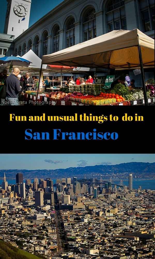 Fun and unusual things to do in San Francisco outside of the usual tourist attractions and must visit sites. If you are looking for something out of the ordinary even some places locals don't frequent, check out this post of the inside attractions in San Francisco http://travelphotodiscovery.com/20-quirky-fun-and-trendy-places-to-explore-in-san-francisco/