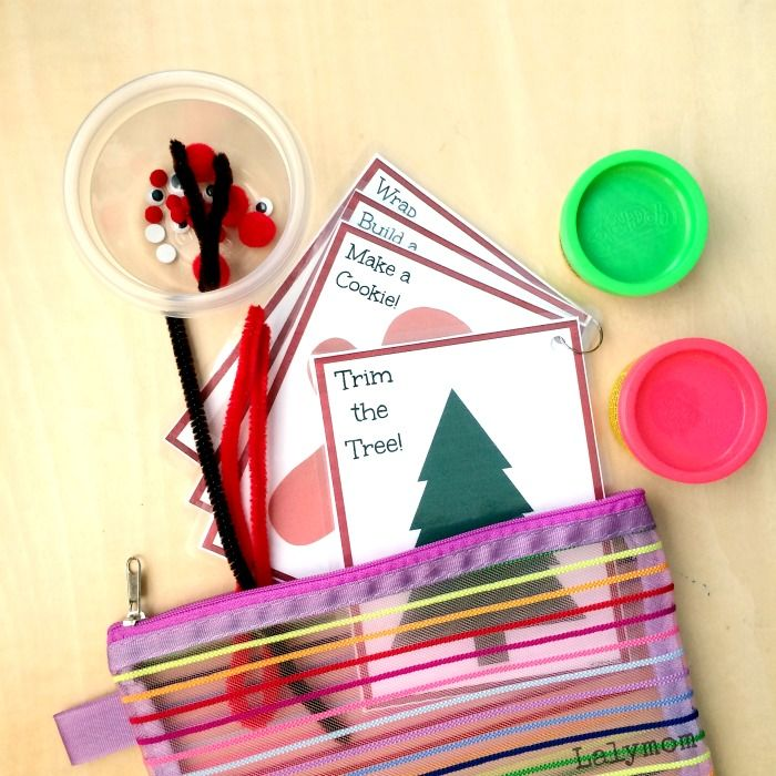 Christmas Activities for Kids - Printable Busy Bag Cards - LalyMom