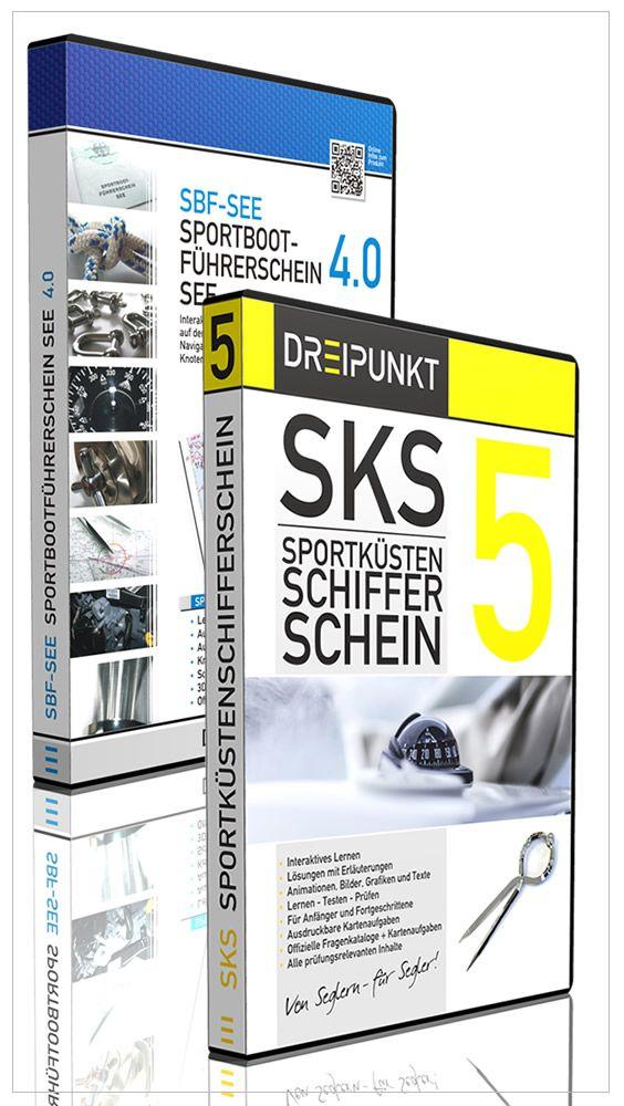 Kombi-Angebot 'SBF-See 4.0 & SKS 5': Bereite dich noch heute auf deine Karriere als Segler vor! DREIPUNKT-VERLAG - Schulze Media GmbH