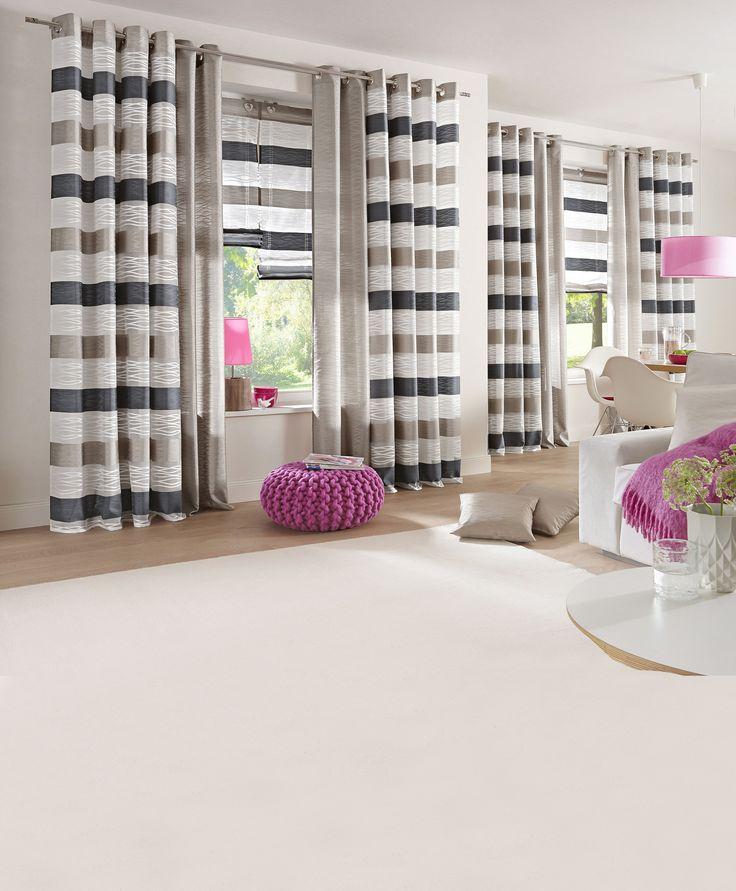 """Гардина """"Bartica"""". Прозрачная модель из материала ширли в модную полоску.  #quelle #trends #fashion #style #brands #lifestyle #home"""