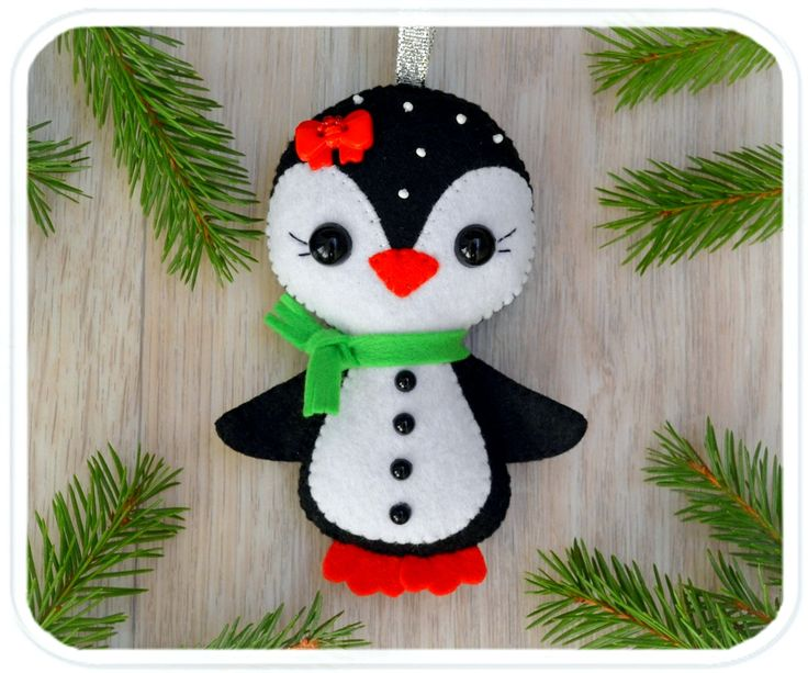 Christmas ornaments Cute felt Penguin Christmas decorations