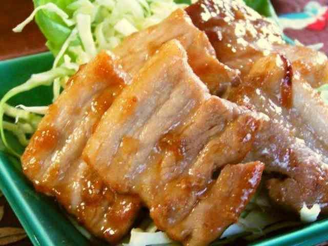 豚バラの味噌照り焼きの画像