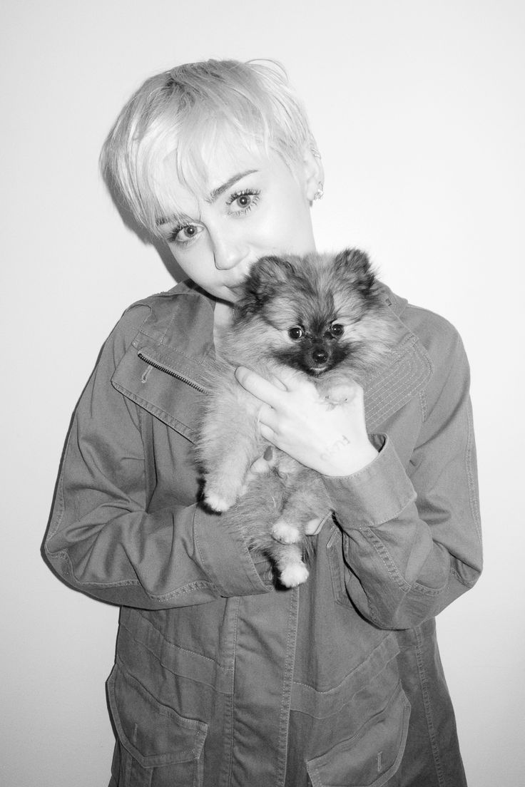 Miley Cyrus poses for Terry Richardson