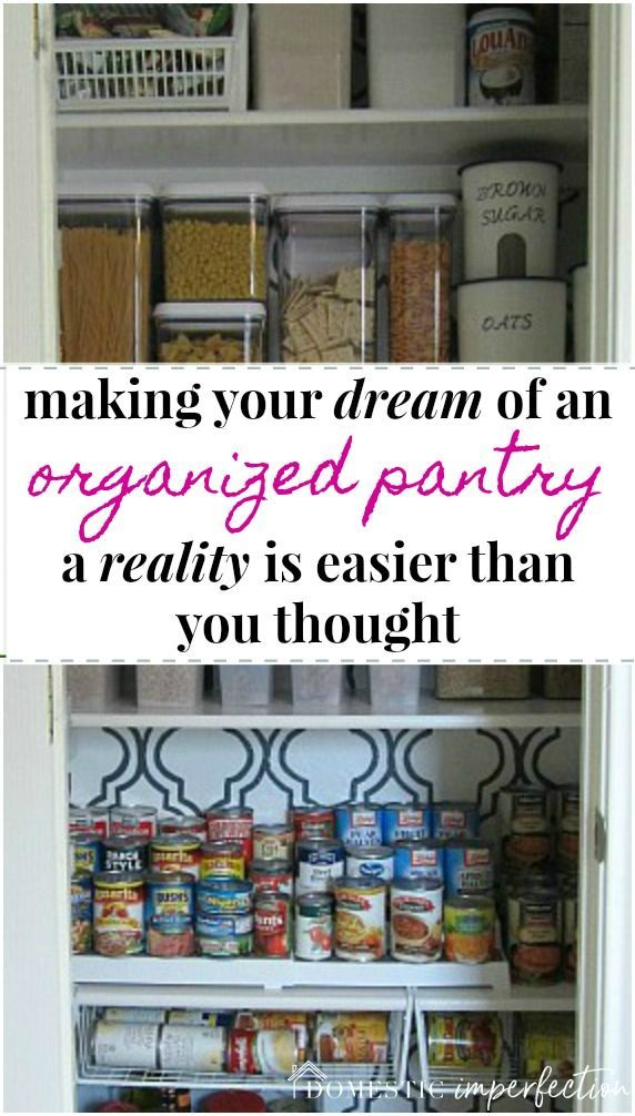 How to organize your tiny pantry and make every square inch count!