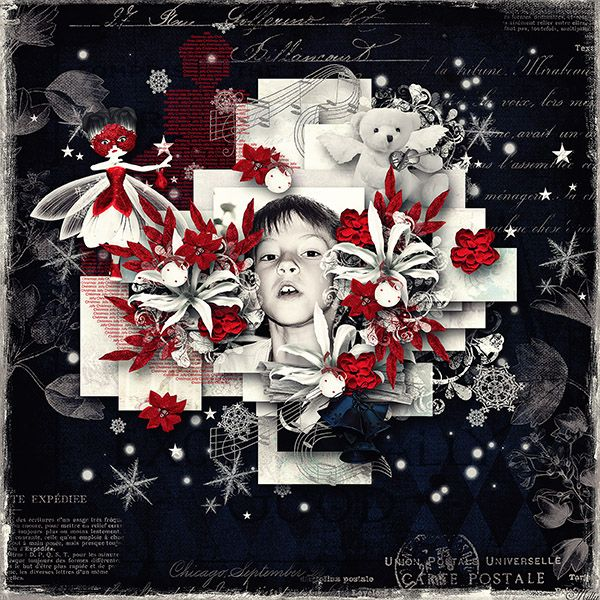 """""""The snow queen"""" de Manue Designs template Cozy winter day 1. by Tinci Designs"""