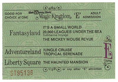 Vintage Disneyland Tickets: Walt Disney Word - October 1971 Ticket Book