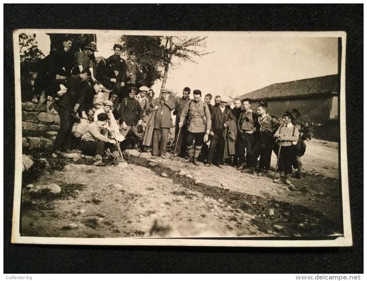 OLD VINTAGE PHOTO 1931 TRAVELERS The Rila Monastery Near Batanovtsi  MILITARY GUYS IN UNIFORM - Objects