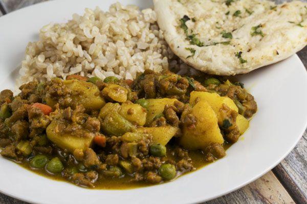 one-pot keema with vegetables via veggiechick.com #vegan #vegetarian ...
