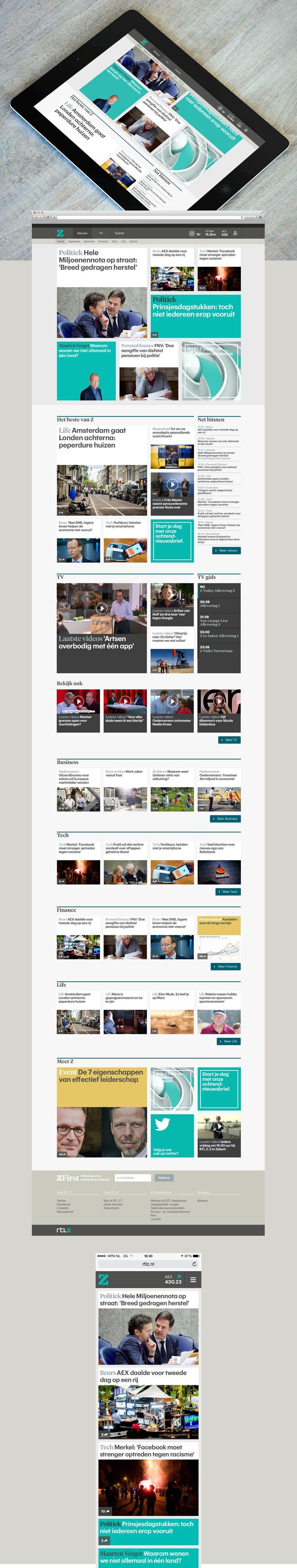 RTL Z - Portfolio of Twan Minten #Webdesign