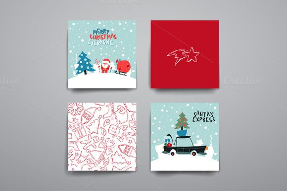 Merry Christmas Card Templates   @creativework247