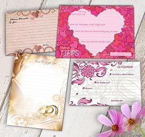52 Postkarten für die Hochzeit. Hochzeitsspiel mit dem Brautpaar