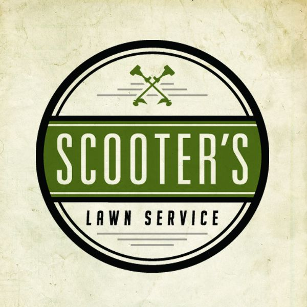 Scooter 39 s lawn service logo by steve wolf via behance for Garden maintenance logo