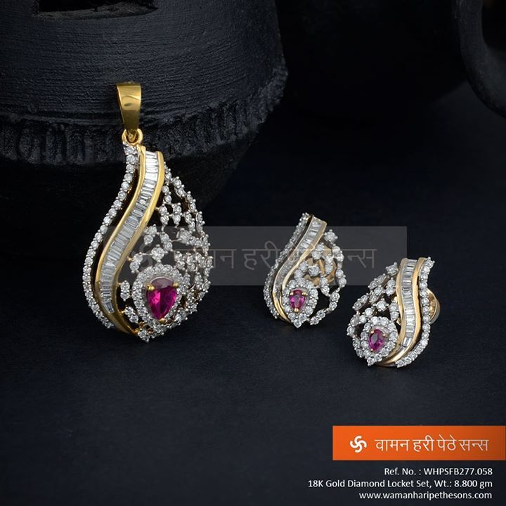 #Adorable #stunning #glamorous #attractive #gold #diamond #pendantset from our exclusive collection.