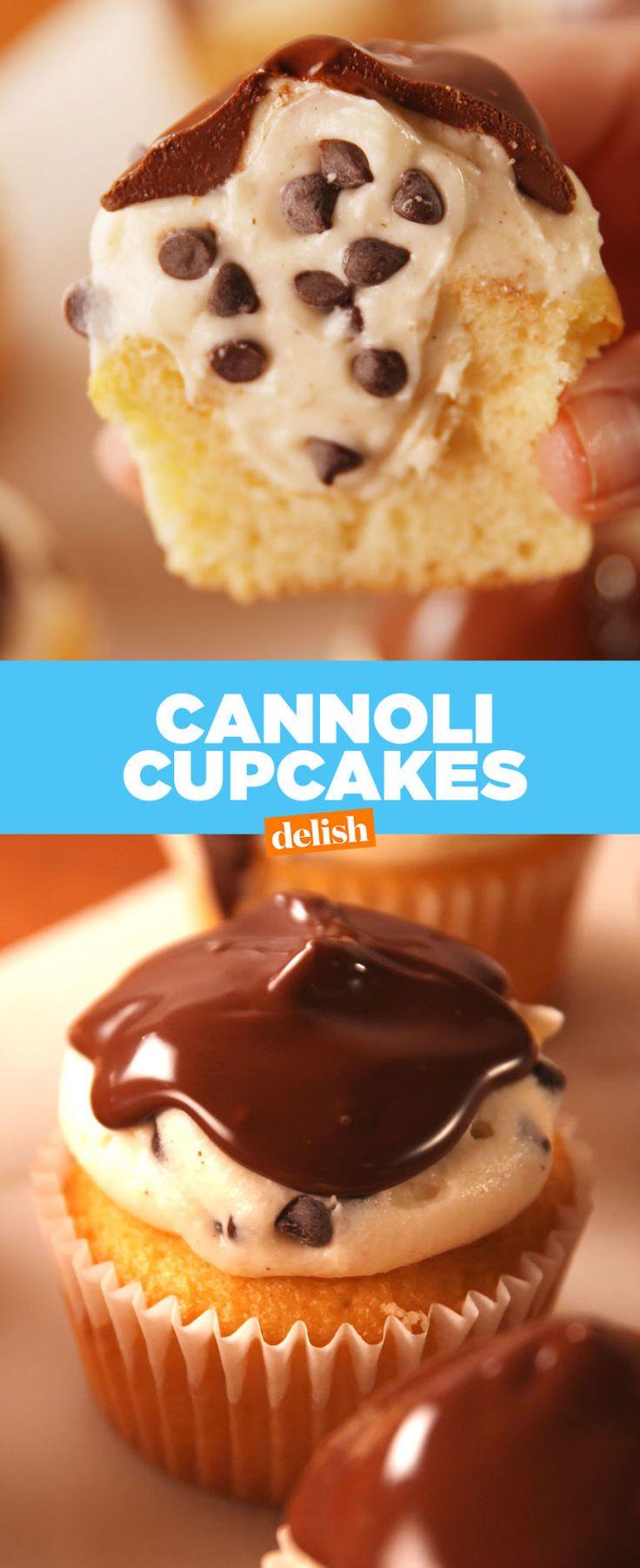 Cannoli Cupcakes  - Delish.com