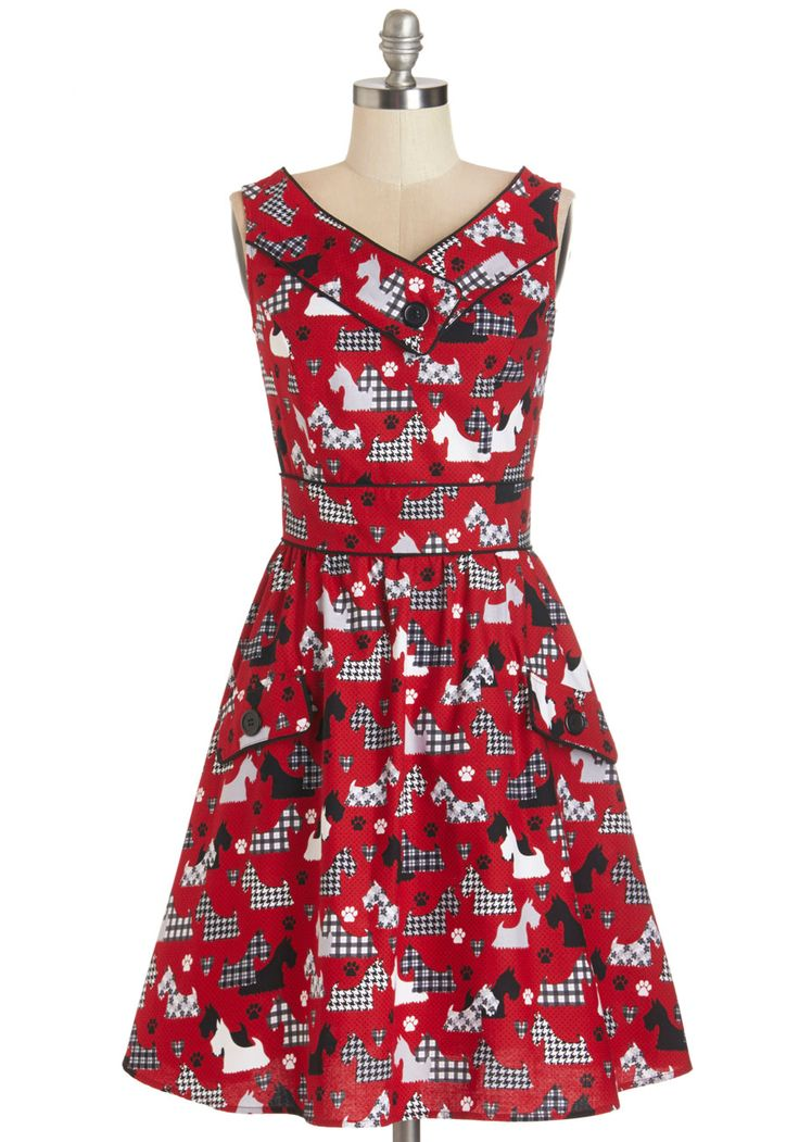 Places to Go, People to See Dress in Scottie, @ModCloth