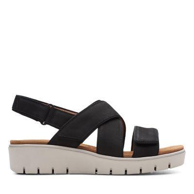 8a165ff850 Un Karely Sun Black Nubuck - Womens Sandals - Clarks® Shoes Official Site    Clarks