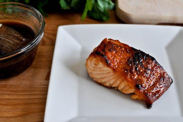 Crispy bourbon glazed Salmon! try glaze on shrimp and chicken! GRILL SEASON IS COMING SOON!! =)