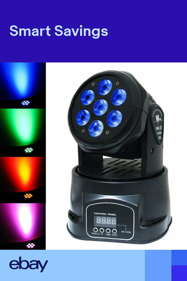70W RGBW 7 LED Moving Head Stage Lighting DMX Beam DJ Disco Club Party Lights