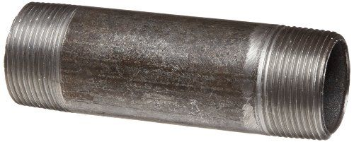 "Anvil 8700136958, Steel Pipe Fitting, Nipple, 1/4"" NPT Male x 3"" Length, Black Finish"