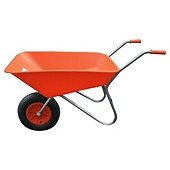 Threeway Bull Barrow Picador Plastic Wheelbarrow - Orange