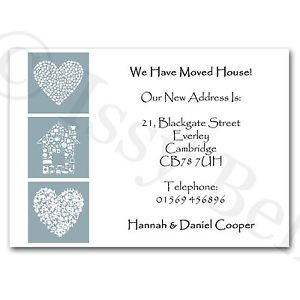 7 best change of address cards templates images on pinterest personalised change of address moving house cards hearts first house pronofoot35fo Choice Image