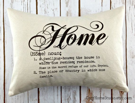 Great Housewarming Gift Home Definition Quote Pillow