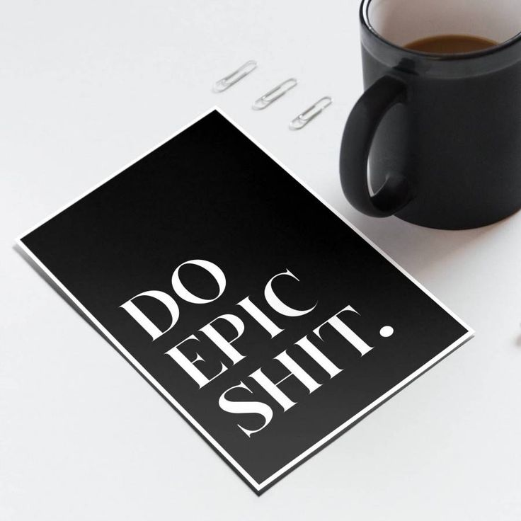 Do Epic Shit - Note Cards - Handmade in New Zealand by Bespoke Art