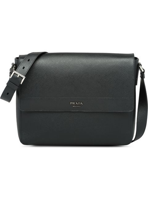 87303e7ed4f8 PRADA | Saffiano Leather Shoulder Bag - Black | $2,700 | Crafted in Italy  from the