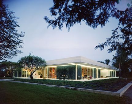 The Miller House was designed by Eero Saarinen in 1957 and is an important residential representation of the International Style, a subtype of the Modern Movement.