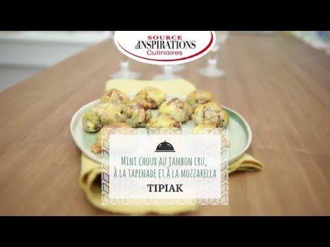 Recette cuisine - Mini choux au jambon cru, à la tapenade et à la mozzarella - TIPIAK