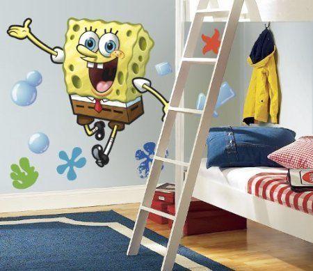 Spongebob Peel & Stick Giant Wall Decal @ niftywarehouse.com #NiftyWarehouse #Spongebob #SpongebobSquarepants #Cartoon #TV #Show