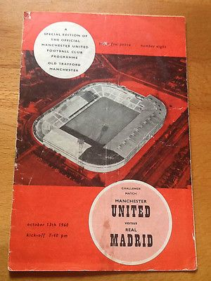 Manchester #united v real madrid #friendly #13/10/1960,  View more on the LINK: http://www.zeppy.io/product/gb/2/262310373541/