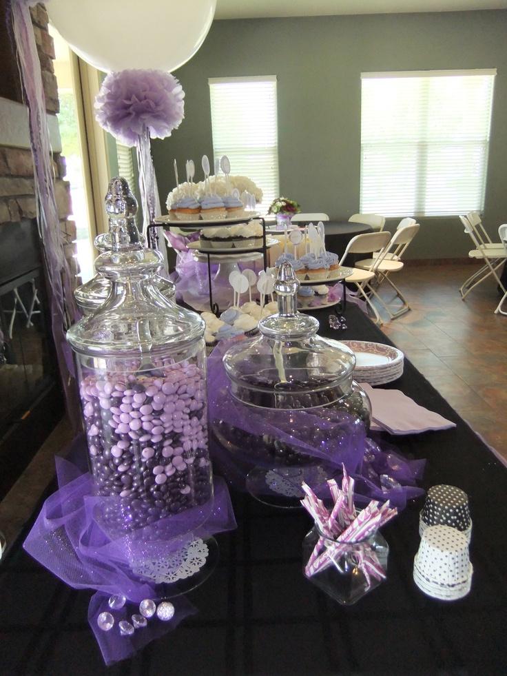 lavender bridal shower candy jars
