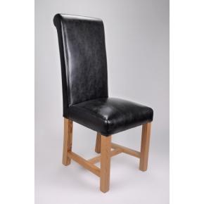 Richmond Bonded Leather Dining Chair Black  www.easyfurn.co.uk