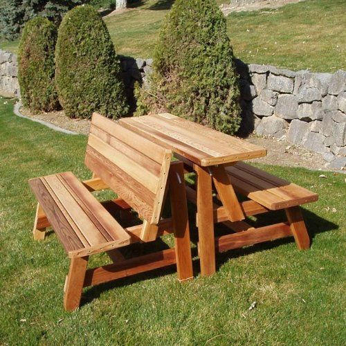 Herman Convertible Furniture: Bench to Half Picnic Table ...