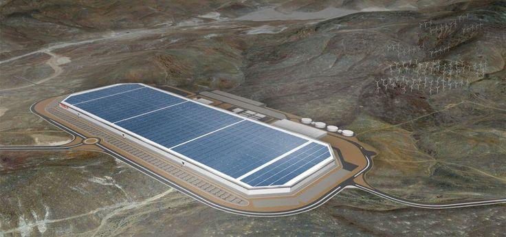 Примерный внешний вид гигантской фабрики Tesla №1 после завершения стройки
