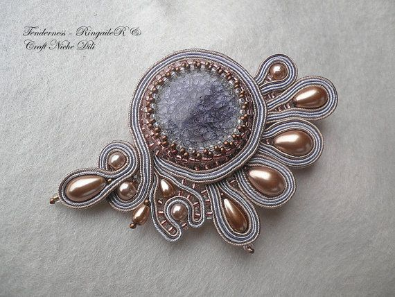 Soutache brooch Tenderness by CraftNicheDili on Etsy, €45.00