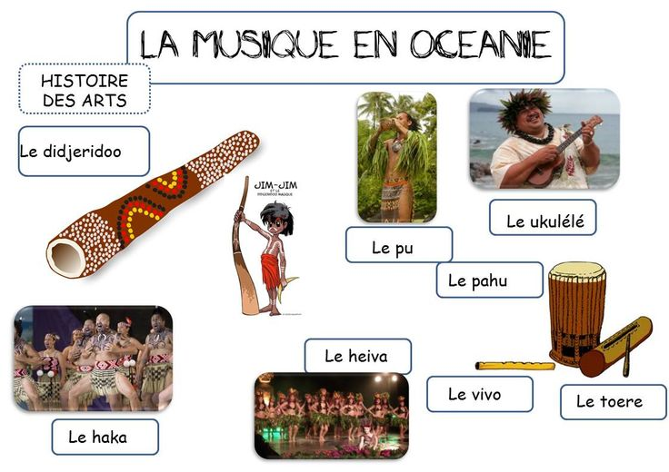 LA MUSIQUE EN OCEANIE - La classe de Corinne