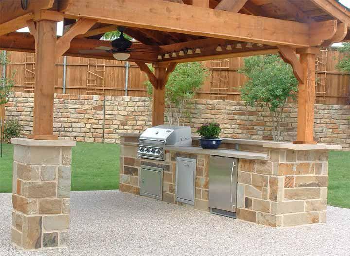 cocina instalada en exteriores